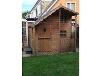 Outdoor playhouse - buyer to dismantle. Viewings welcome