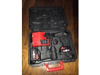 Milwaukee Tool Box and 18v 2x4Ah batteries and twin changer BRAND NEW