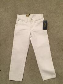 Genuine Polo Ralph Lauren White Jeans (Brand New)
