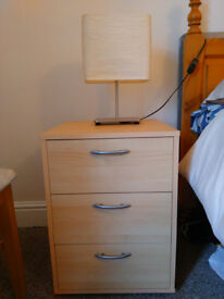 Bedside table + Lamp