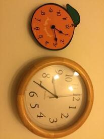 2 x clocks