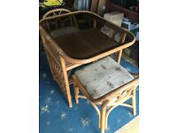 2 seater cane table