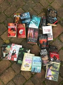 Car Boot stock - Numerous soft back fiction books