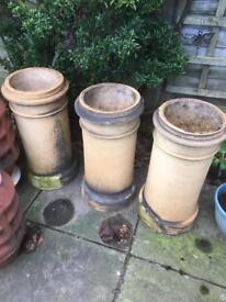 Reclaimed cream chimney pots