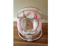Bright starts comfort and harmony pink bouncer