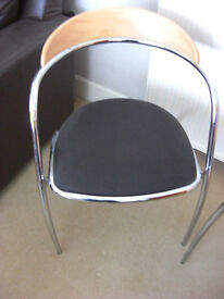 Chrome Dining /Bistro style chairs