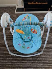 Baby swing rocker, with music