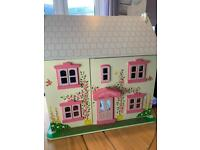 Bigjigs Rose Cottage Dolls House