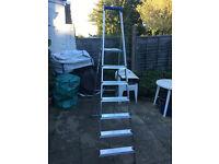 Brand new Hailo L20 Aluminium Platform Step Ladders 7 Tread