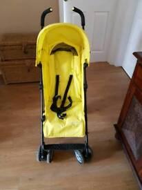 Mothercare nanu pushchair stroller lightweight buggy hood basket pet smoke free