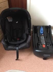 Joie gemm car seat and isofix base