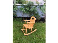Beautiful Kids' Wooden Rocking Chair