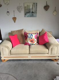 Two seat settee very comfy free to good home must pick up from Lochgoilhead