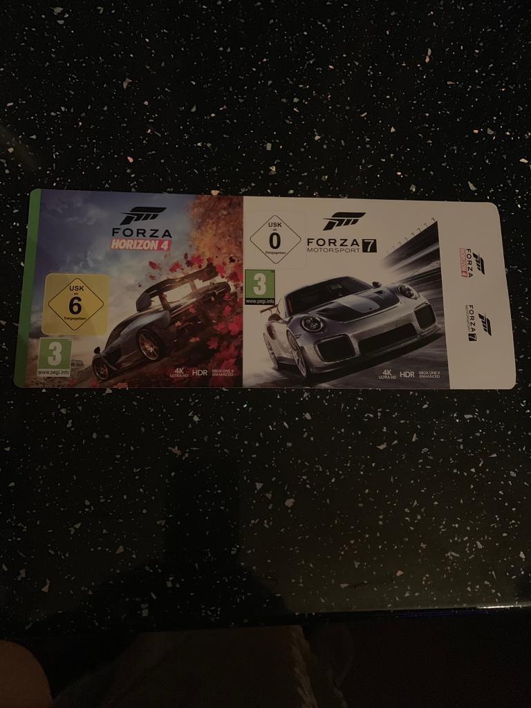 Game codes brand new (forza horizon4 &forza moter sport 7