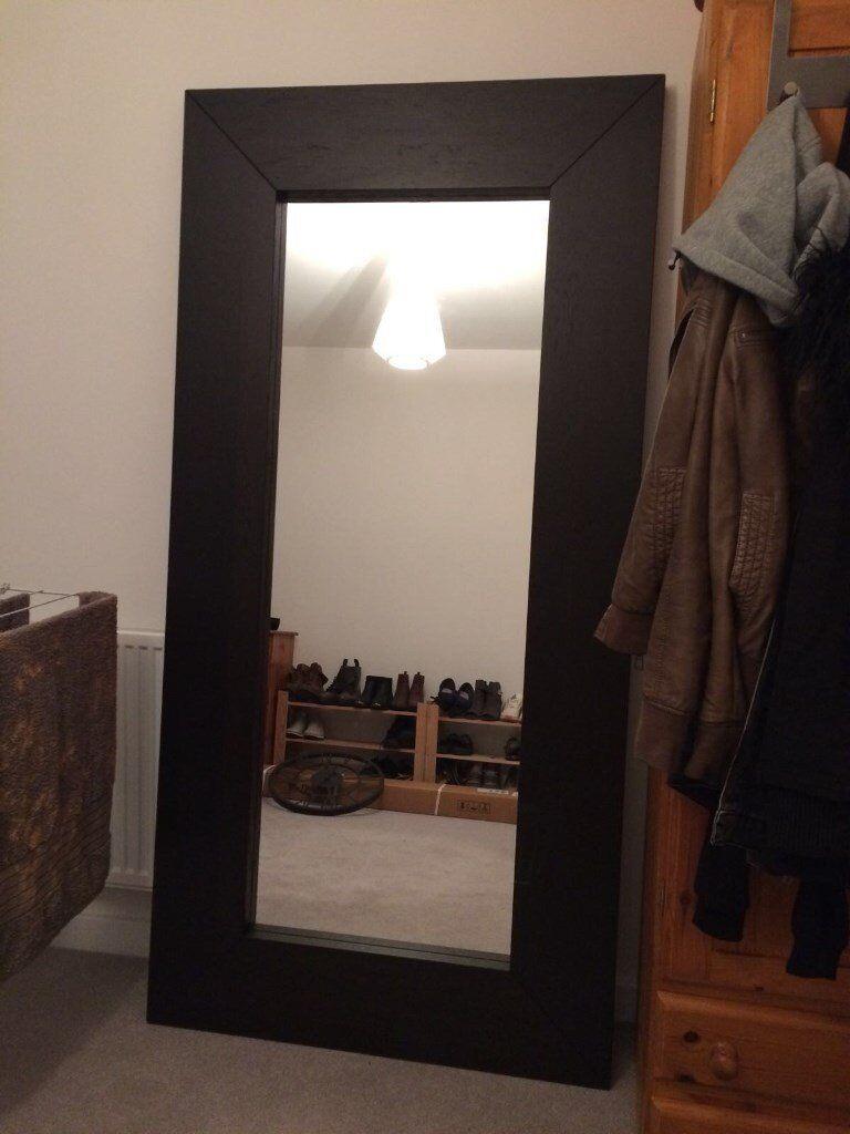 Ikea Mongstad Black Brown Full Length Mirror