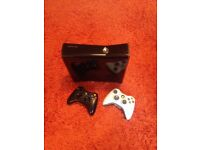 Xbox 360s 250gb, with 2 wireless controllers, games, charging dock and all cables