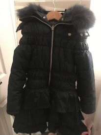 Girls navy le chic coat