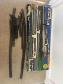 Vintage hornby r696 railway set and extra track