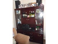 Mahogany sideboard and drinks cabinet