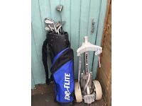 Oversize head golf clubs, suitable for beginners, bag and trolley, all included