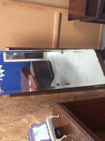 Large vintage mirror on stand Bevelled