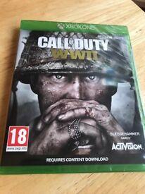 **SEALED** CALL OF DUTY WW2 XBOX ONE S GAME COD WWII