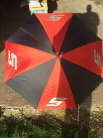 Snap on umbrella