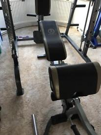 Marcy multi gym, with weights and Olympic bar