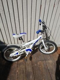 Child Bike 16 inch-Blue and White- IN GREAT CONDITION £20