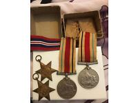 War medals and ribbons
