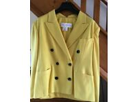 Escada Ladies Yellow jacket. Size 12.