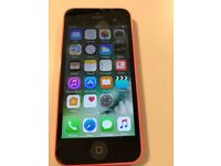 Apple 8GB Pink IPhone 5C Unlocked boxed, with Charger and wall Plug