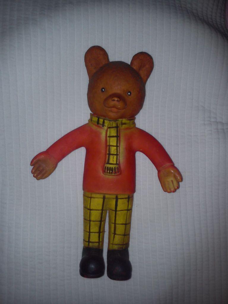 Vintage Original Rupert The Bear Squeaky Toy Bargain In