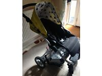 Aubrey mamas and papas pushchair with car seat and adapters