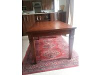 solid teak wood dining table with for chairs