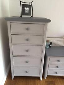 Tallboy and bedside table