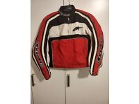 Ladies Alpinestars Jacket Size MEDIUM Red White Black Textile Womans