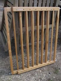 Wooden stair gate - made by Lindam