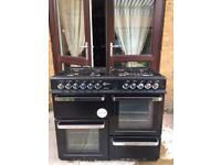Black Flavel Aspen 100 Dual-Fuel Range Cooker... ** DELIVERY AVAILABLE **