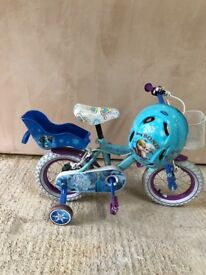 "Child's Frozen bike 12"" incl helmet"