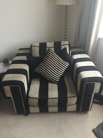 Large two seater and arm chair