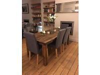 *NEW & UNUSED - Dining table & 2 benches