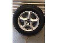 "BMW X5 17"" spare alloy wheel with new Michelin tyre vgc"