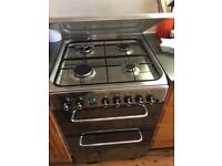 Indesit dual fuel double oven