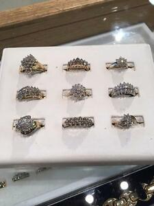 **CLUSTER GOLD RINGS! GET YOUR CLUSTERS HERE! **