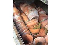 Huge LOT of vintage plant pots