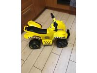 Small Tonka battery quad bike excellent condition 1 - 3yrs