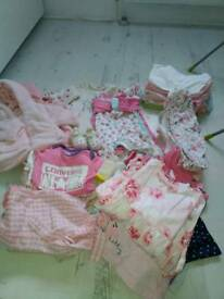 Clothes for baby girl 0-9m