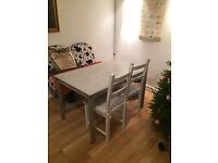 Dining table painted grey - IKEA INGO