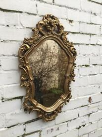 Gold ornate portrait mirror old alabaster mirror ornate mirror